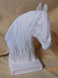Fresian horse on low base