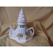 Alpine Cabin teapot fairy cottage