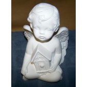cherub with birdhouse