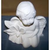 cherub with flower