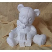 Teddy bear bank with blocks