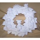 wreath of teddy bears