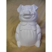 girl pig cookie jar