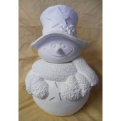 Snowman with scarf cookie jar