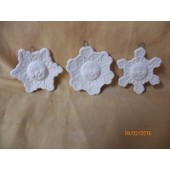 snowflake ornaments with faces