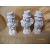 3 snowmen ornaments