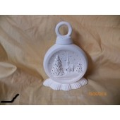Extra small ornament with church scene