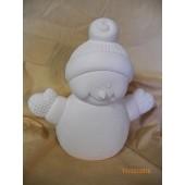 medium bundle up snowman