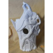 fairy birdhouse with leaf roof