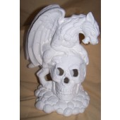 gargoyle and skull