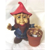 gnome with flower pot