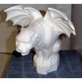 large gargoyle with chain