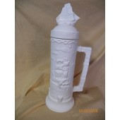 large stein with sailing ship