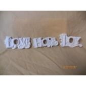 love, hope and joy ornament