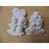 penguin and dog ornaments