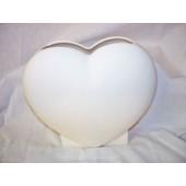 plain heart vase