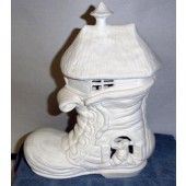 shoe house with bunny
