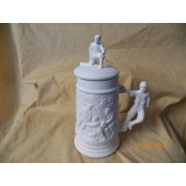 small stein with baseball player