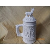 small stein with deer