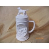 small stein with dog