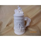 small stein with fisherman