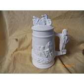 small stein with motorcycle