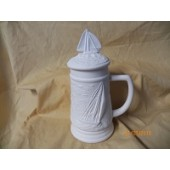 small stein with sailboat