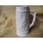 small tankard with owls