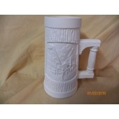 small tankard with skier