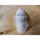 snowman ornament with tree