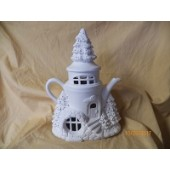 Tree Top Lodge teapot fairy cottage