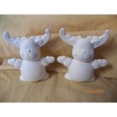 two reindeer ornaments