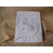 welcome frog plaque